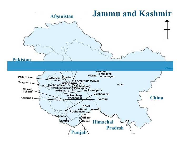 Kashmir Map - Map of Kashmir India, Jammu & kashmir Map, Kashmir ...